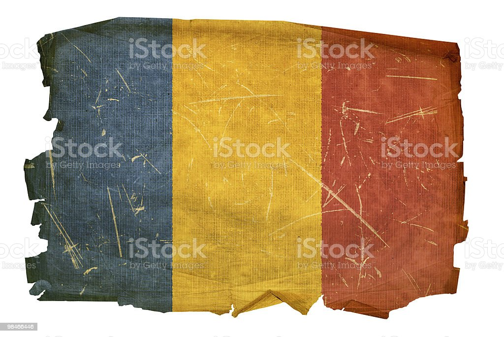 Chadian Flag old, isolated on white background. royalty-free chadian flag old isolated on white background stock vector art & more images of aging process
