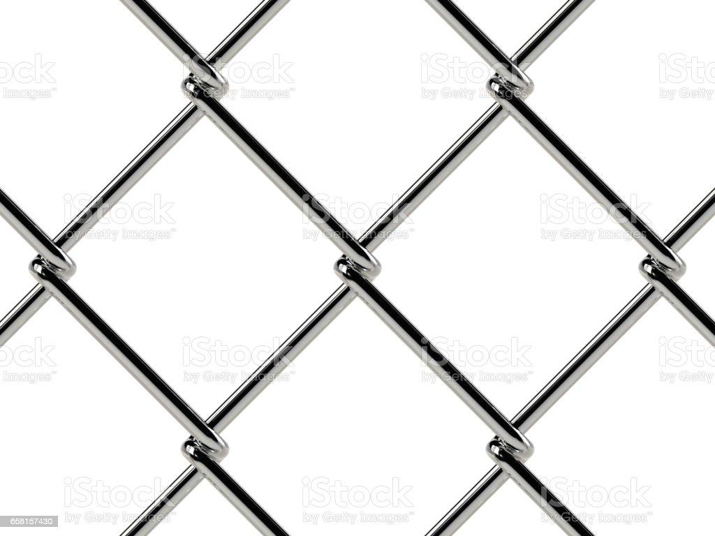 Kette Link Zaun Muster Realistische Geometrische Struktur Stock ...