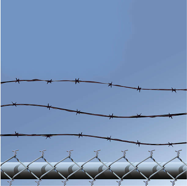 Royalty Free Wire Mesh Fence Clip Art, Vector Images & Illustrations ...