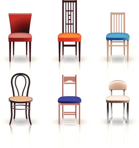 stühle - stuhllehnen stock-grafiken, -clipart, -cartoons und -symbole