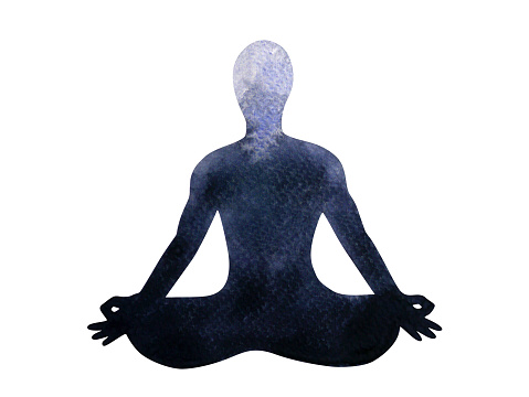 chakra human lotus pose yoga abstract world universe