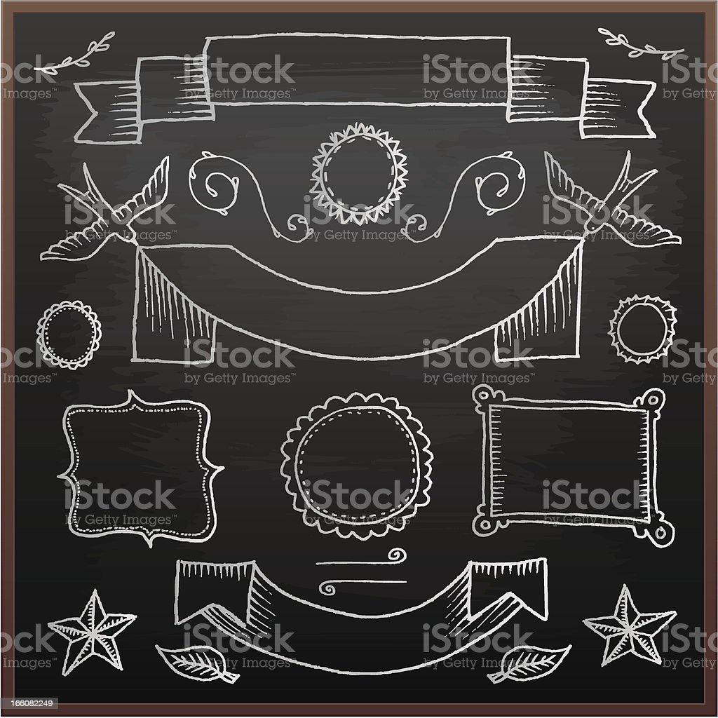 Chalkboard design elements royalty-free stock vector art