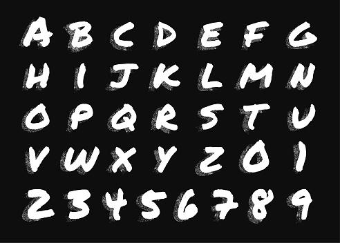 Chalkboard texture alphabet