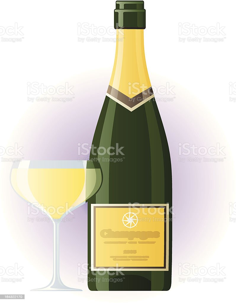 Champagne and wineglass royalty-free champagne and wineglass stock vector art & more images of alcohol