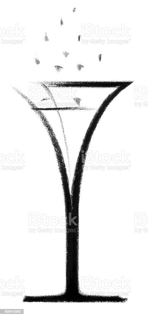 champagne glass sketch royalty-free stock vector art