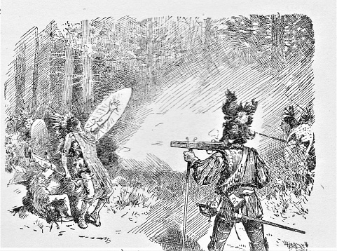 Champlain Shoots Native Americans