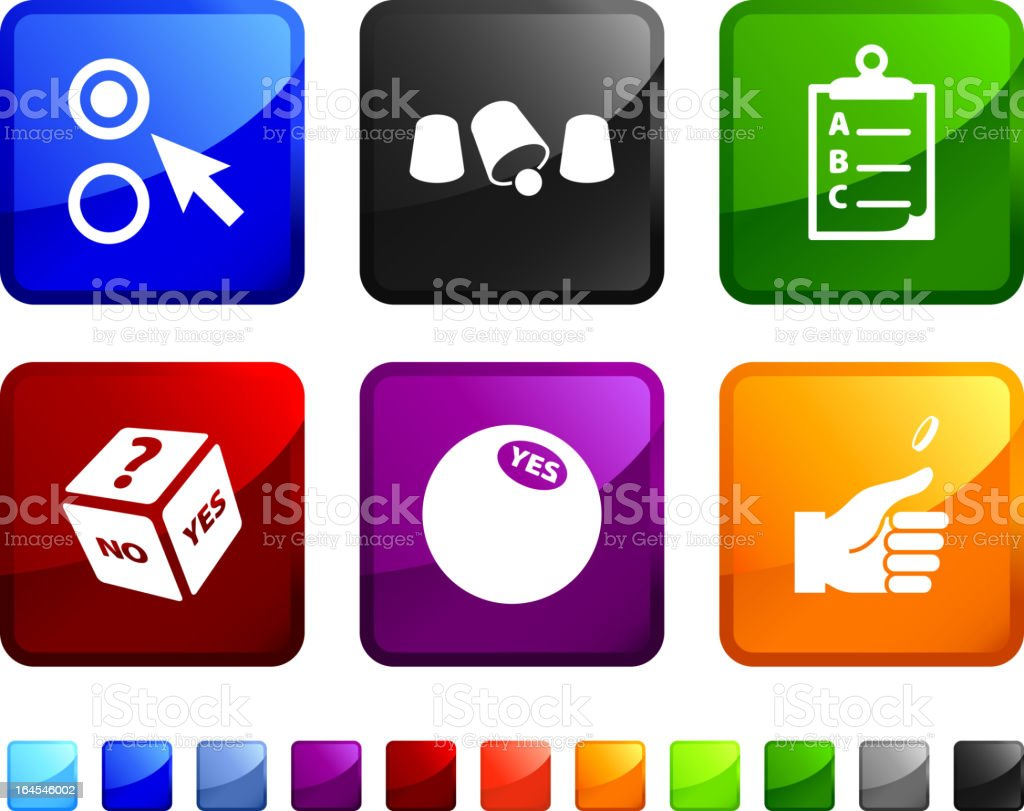 chance and choice royalty free vector icon set stickers royalty-free stock vector art