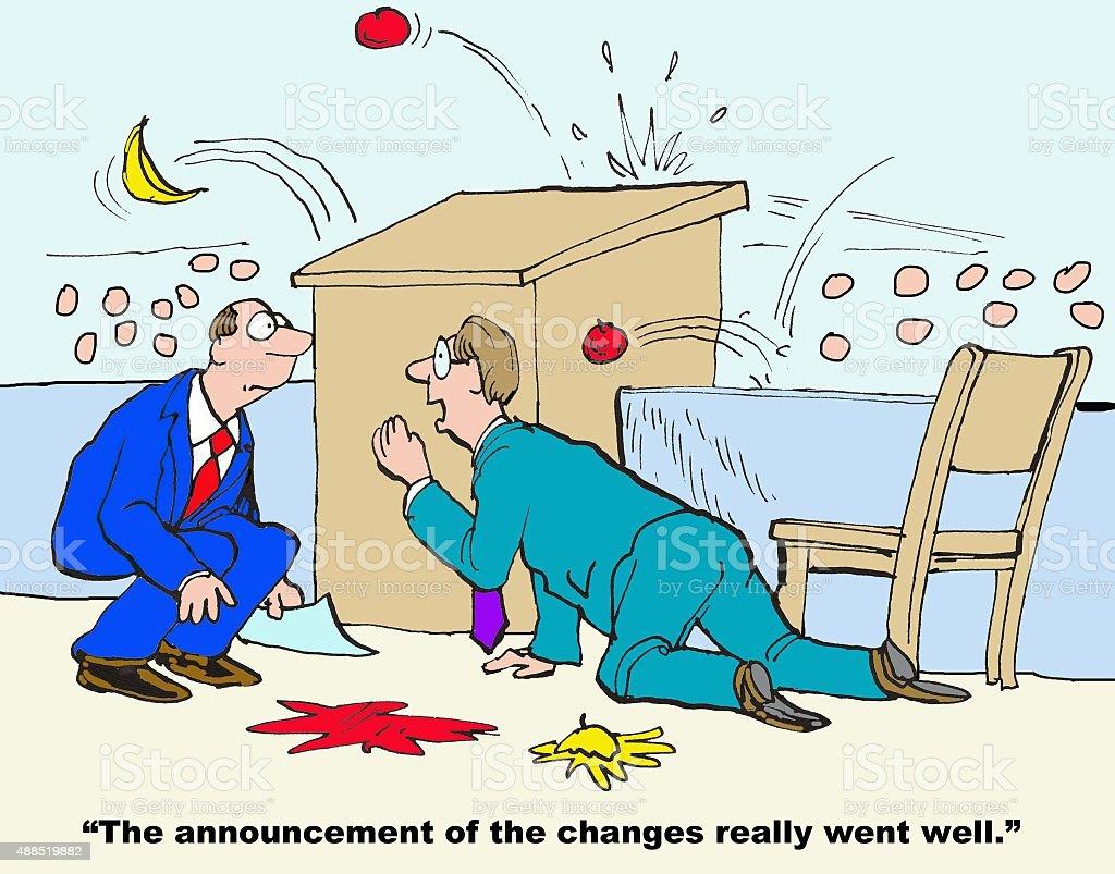 Change Announcements vector art illustration