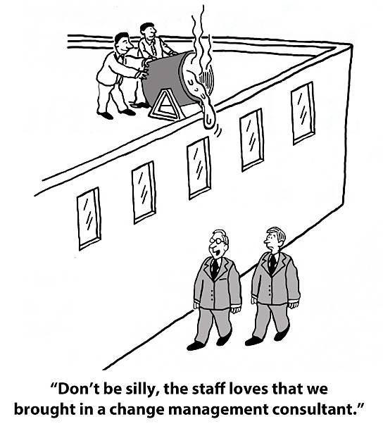 change management consultant - old man funny pictures stock illustrations