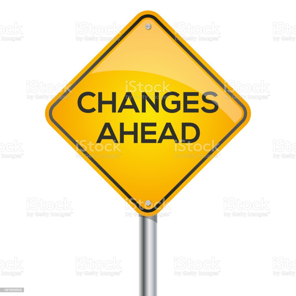 changes ahead signpost vector art illustration