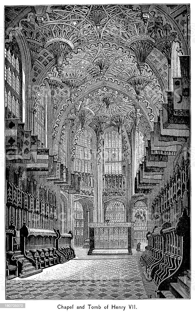 Chapel And Tomb Of Henry VII royalty-free chapel and tomb of henry vii stock vector art & more images of 19th century