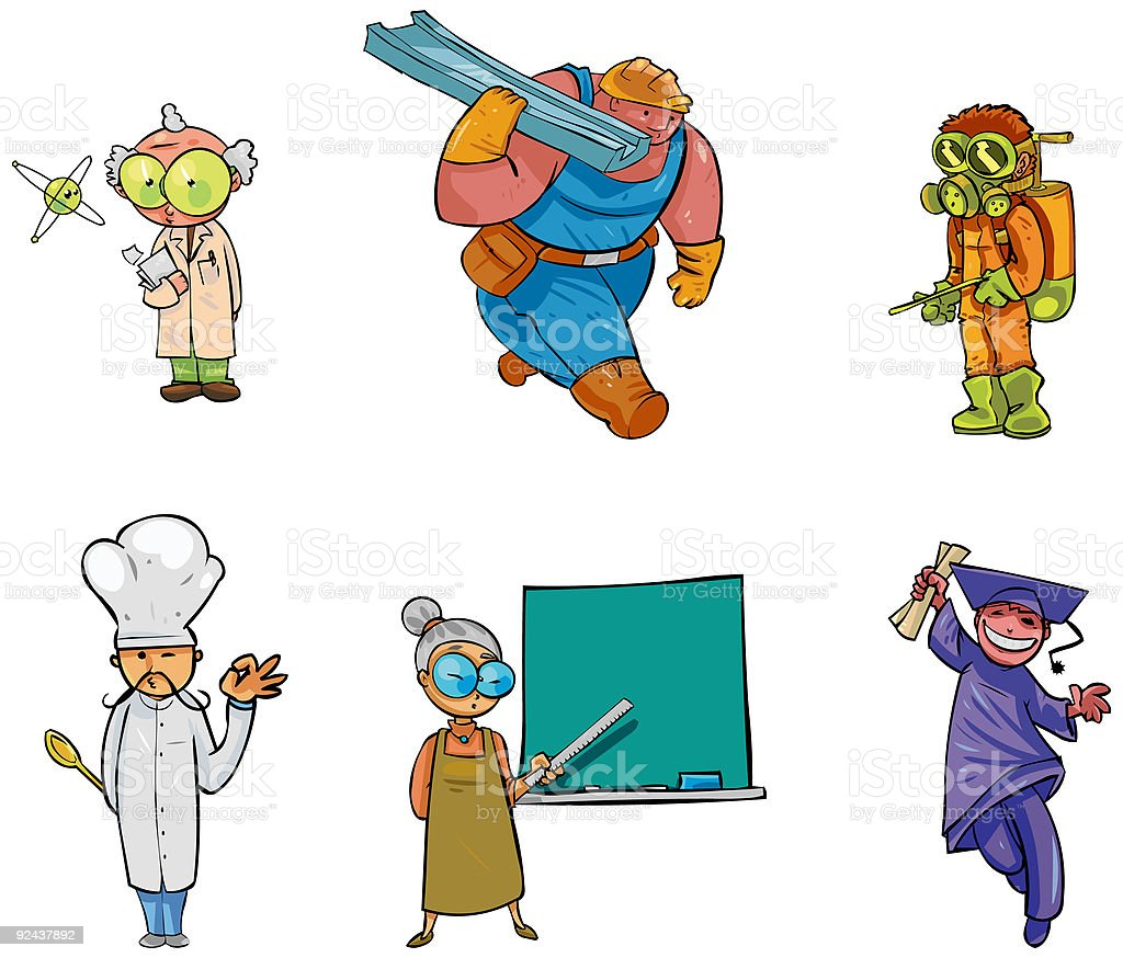 Character Design Collection 004: Working People royalty-free stock vector art