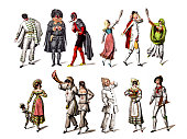 Character from the Commedia dell'arte play
