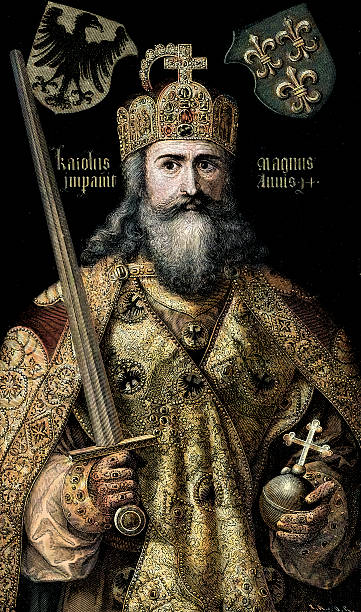 charlemagne - renaissance style stock illustrations, clip art, cartoons, & icons