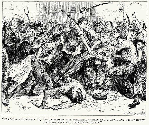 charles dickens and french revolution In charles dickens', a tale of two cities, the author continually foreshadows the future revolution dickens depicts a paris crowd, united by their poverty, in a frenzy to gather wine from a wine cask that was shattered.