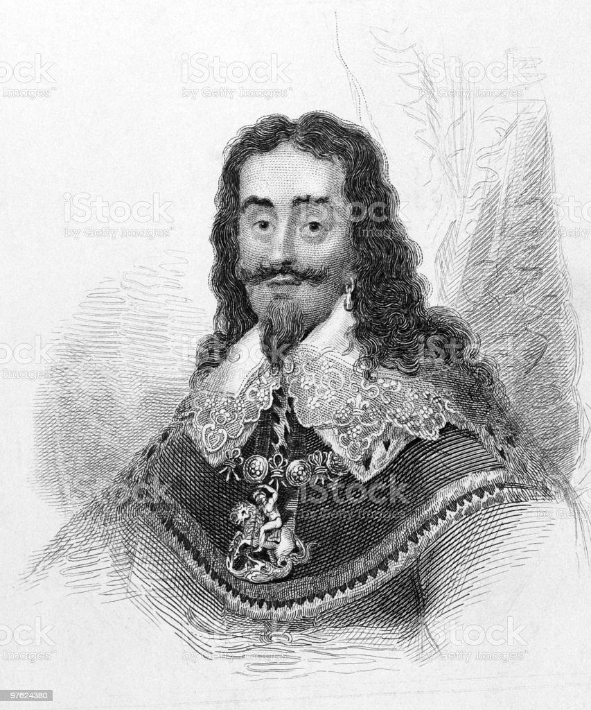 Charles I vector art illustration
