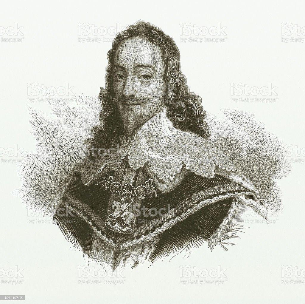 Charles I. of England (1600-1649) vector art illustration