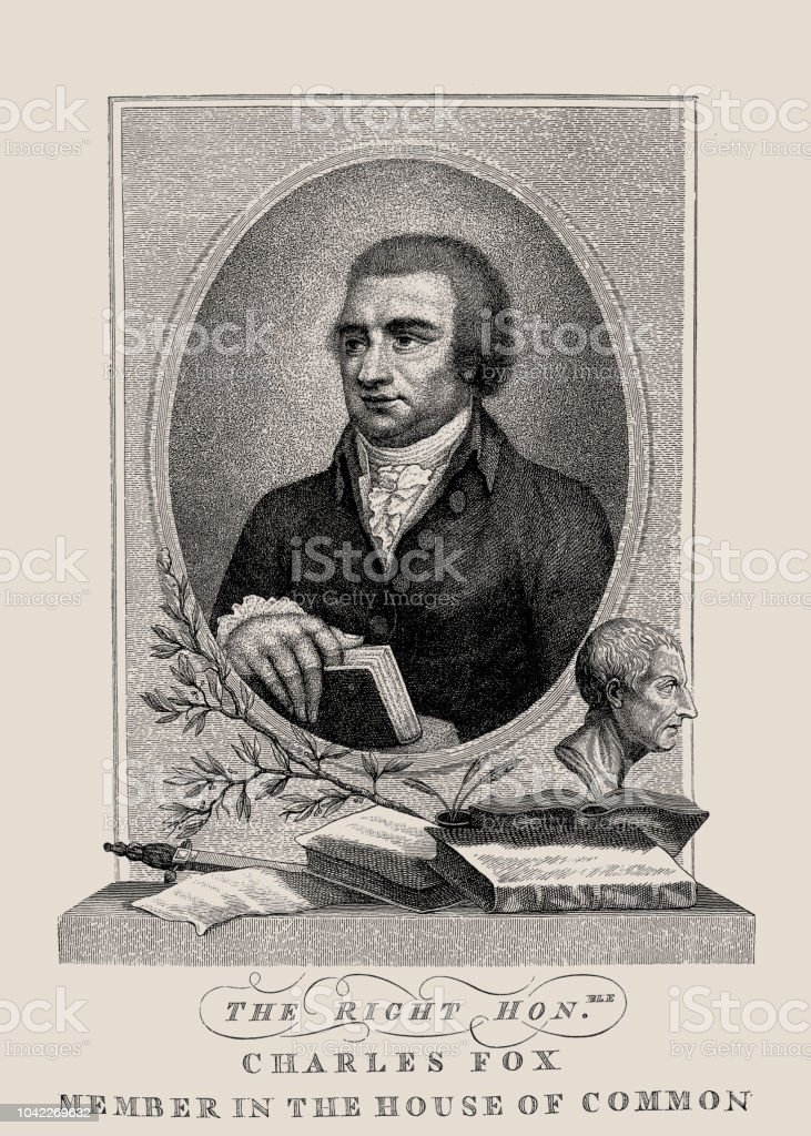 Charles James Fox vector art illustration
