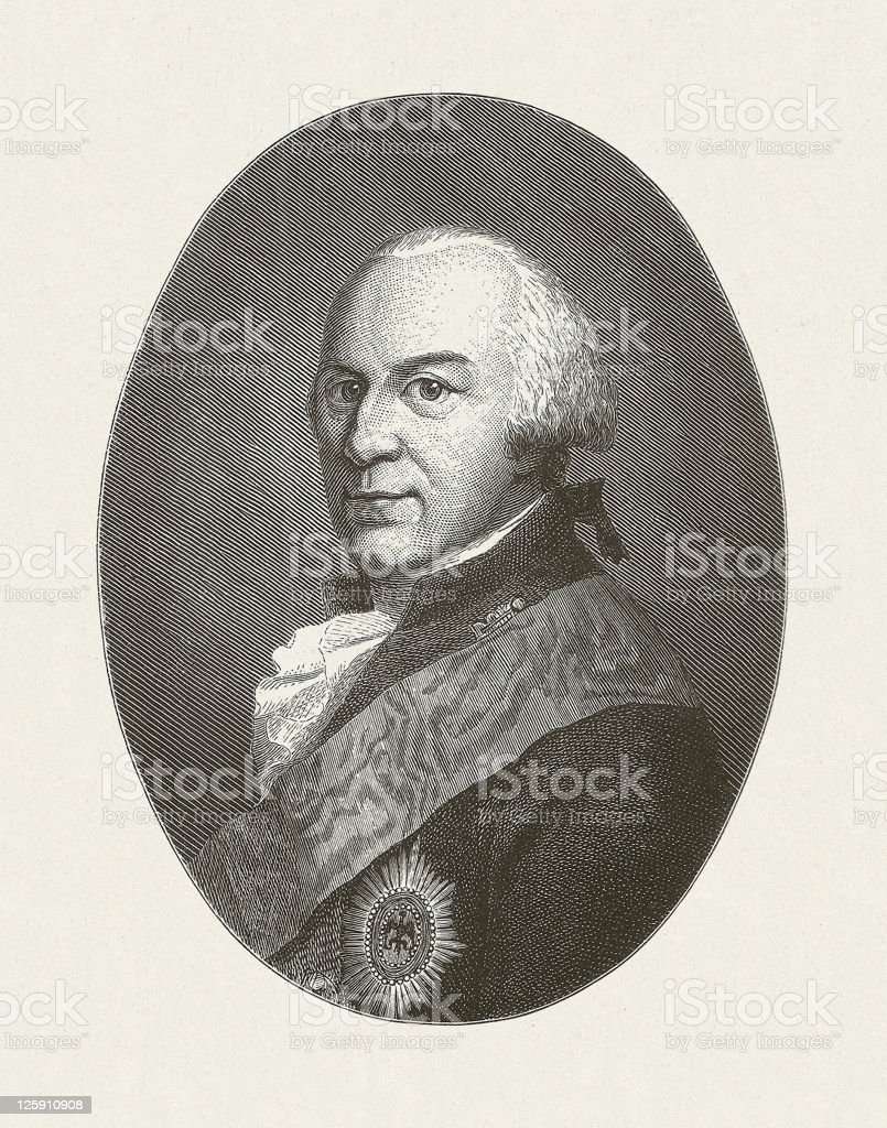 Charles of Brunswick-Wolfenbüttel vector art illustration