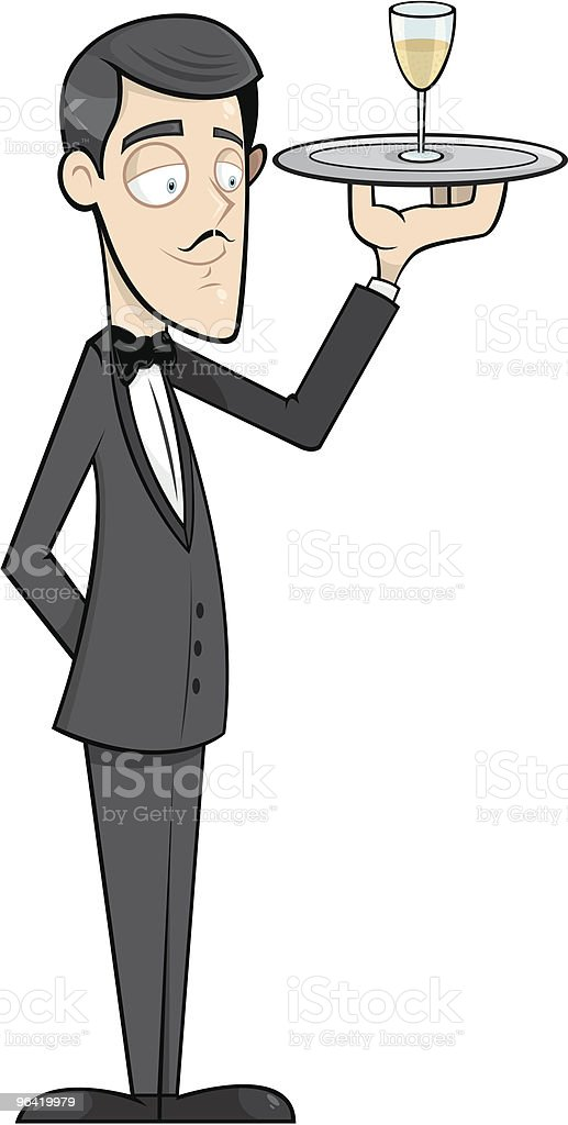 Charles the Waiter royalty-free stock vector art