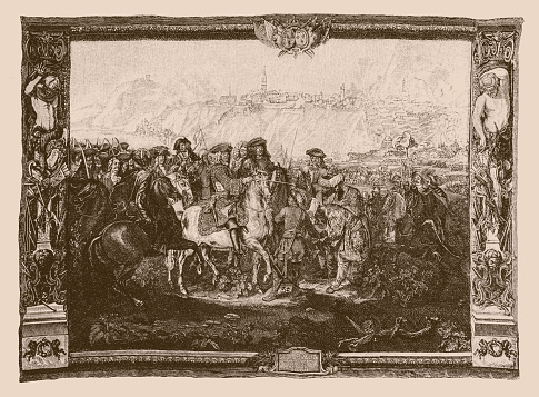 Charles V, Duke of Lorraine during the recapture of Buda Castle from the Turks in 1686 at the second siege of Buda