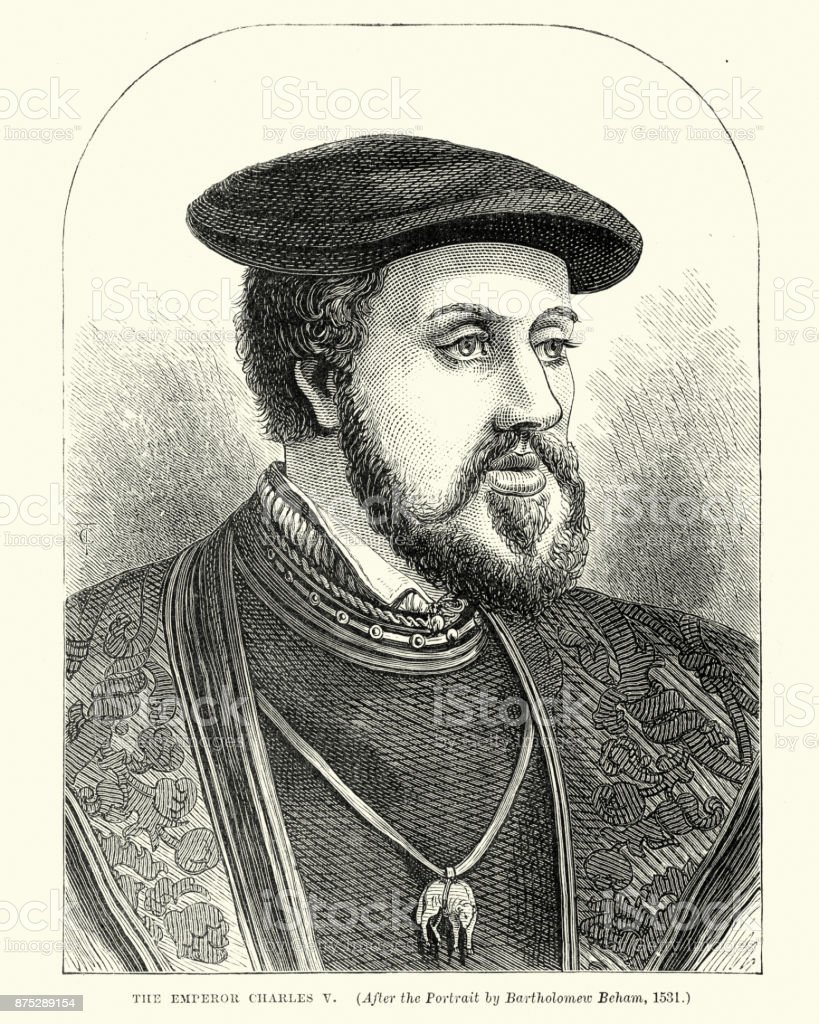 Charles V, Holy Roman Emperor vector art illustration