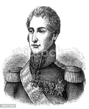 Illustration of a Charles X. King of France