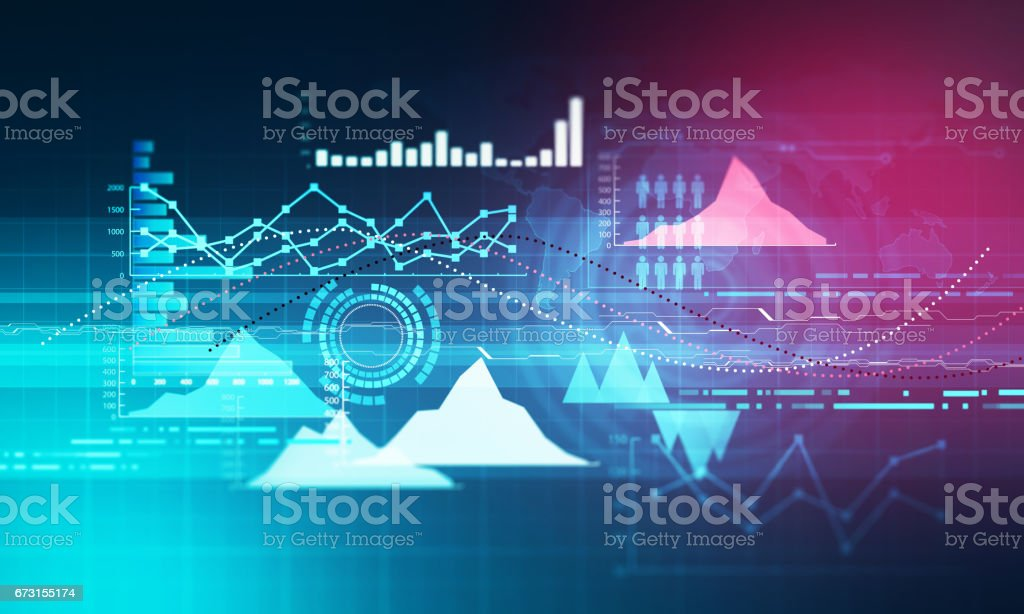 Chart with uptrend line graph bar chart and diagram in bull market chart with uptrend line graph bar chart and diagram in bull market on dark blue ccuart Choice Image
