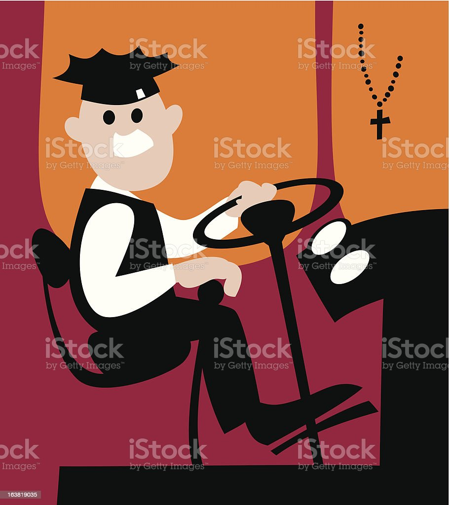 Chauffeur vector art illustration
