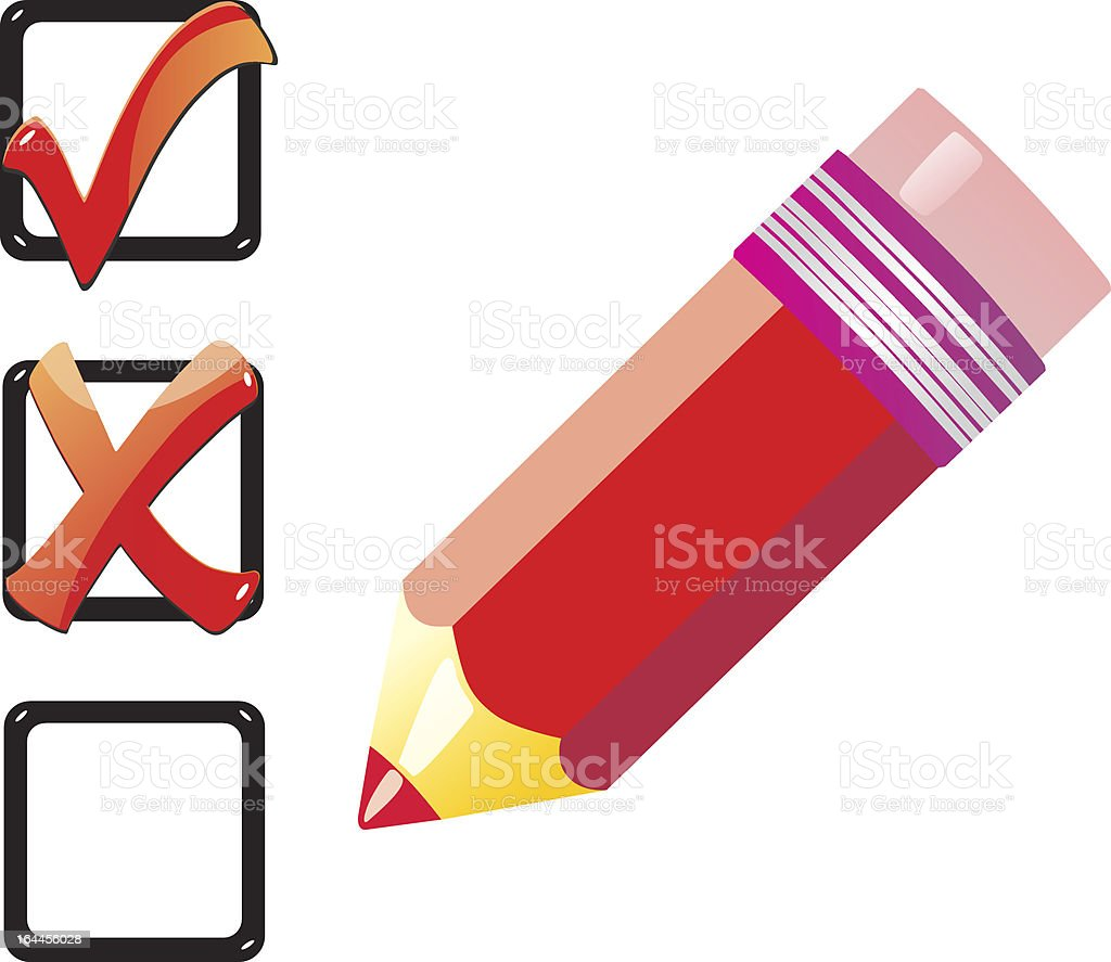 Check list royalty-free stock vector art