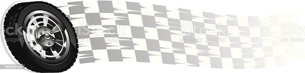 checker wheel royalty-free stock vector art