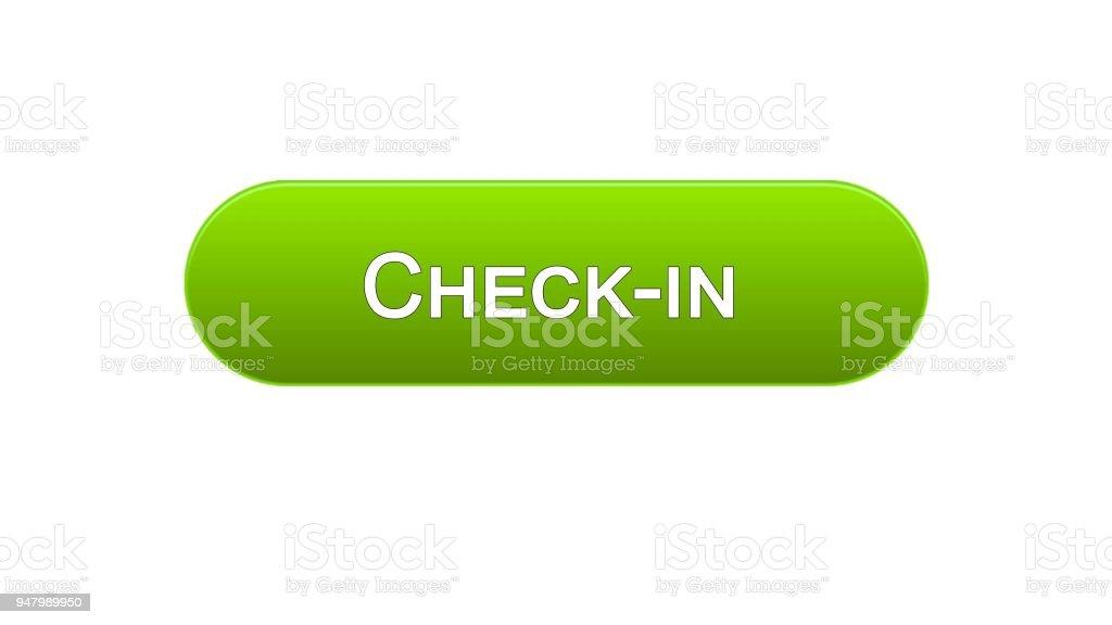 チェックの web インタ フェース ボタン グリーン色オンライン登録