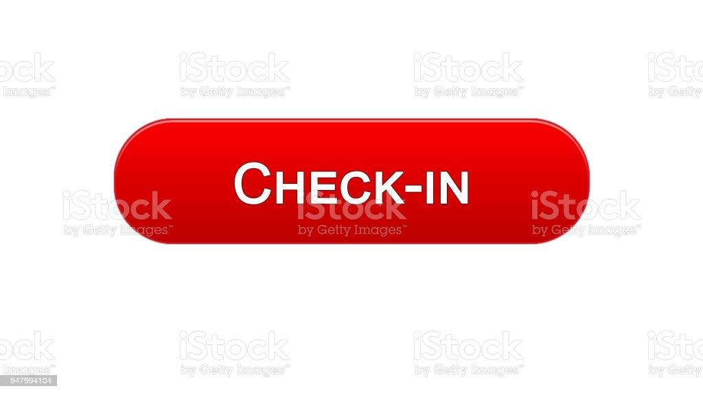 チェックの web インタ フェース ボタン赤い色オンライン登録プログラム