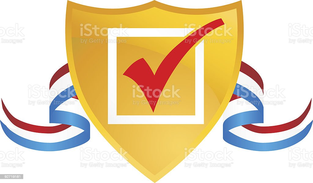 USA Checkmarked Crest royalty-free stock vector art