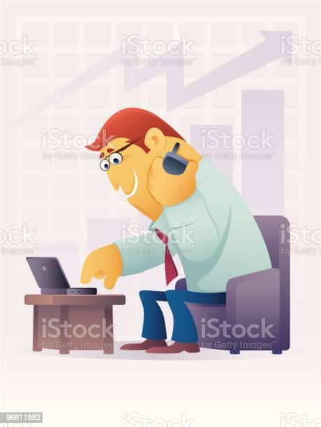 Cheerful Businessman-vektorgrafik och fler bilder på Affärsman