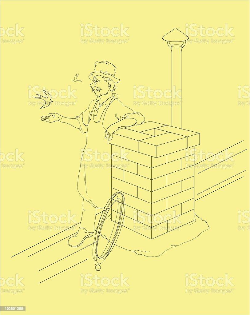 cheerful chimney sweep