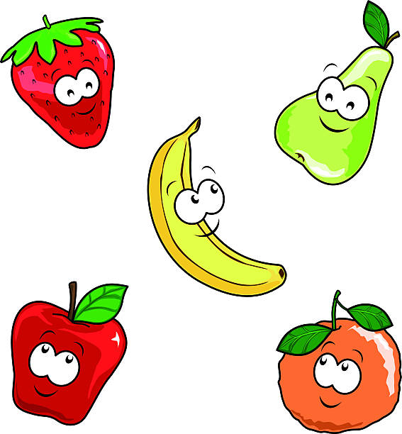 Frutta allegra  frutta stock illustrations