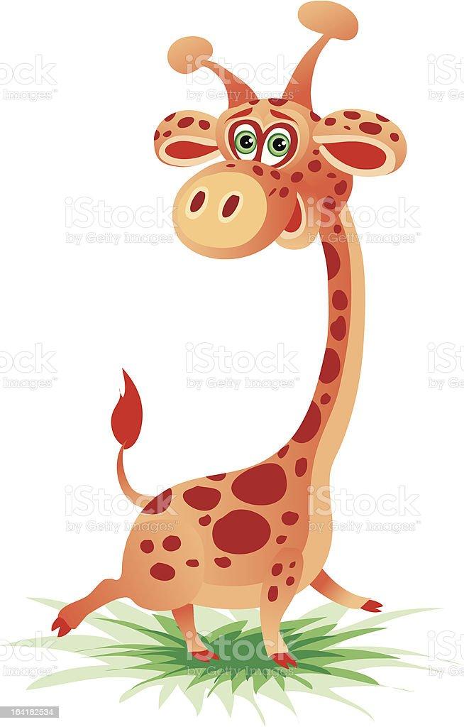 Cheerful giraffe royalty-free stock vector art