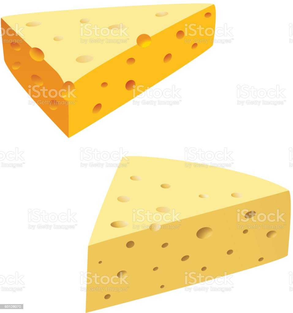 Cheese on white royalty-free stock vector art