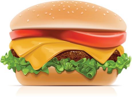 Cheeseburger-vektorgrafik och fler bilder på Brun - Beskrivande färg