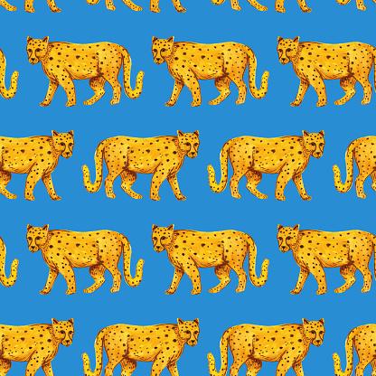 Cheetahs Seamless Background Pattern