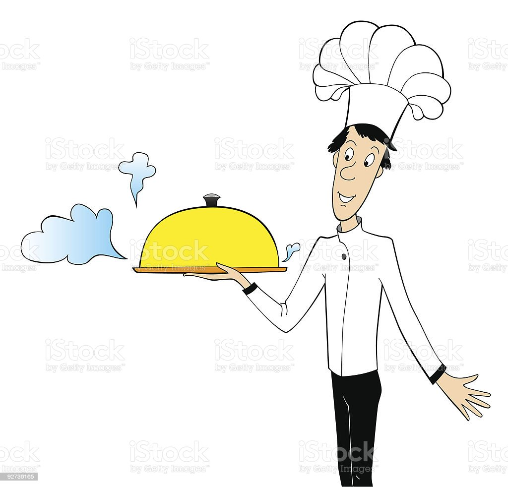chef, cook  Adult stock vector