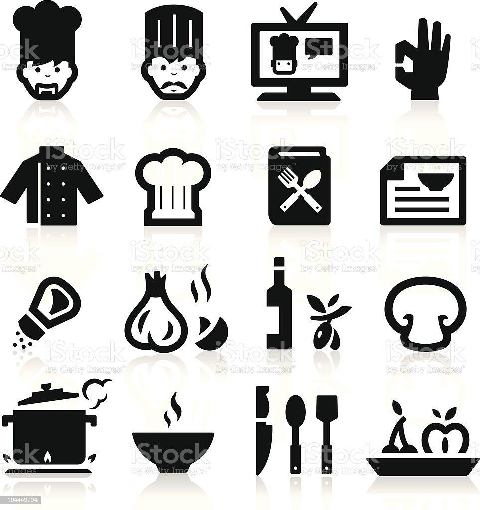 Chef icons vector art illustration