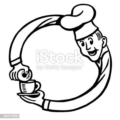 Chef fazendo um círculo com seus braços