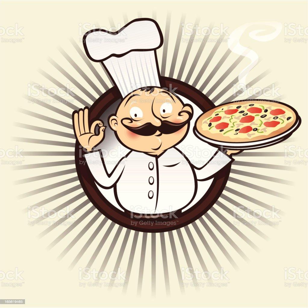 chef menu pizza royalty-free stock vector art