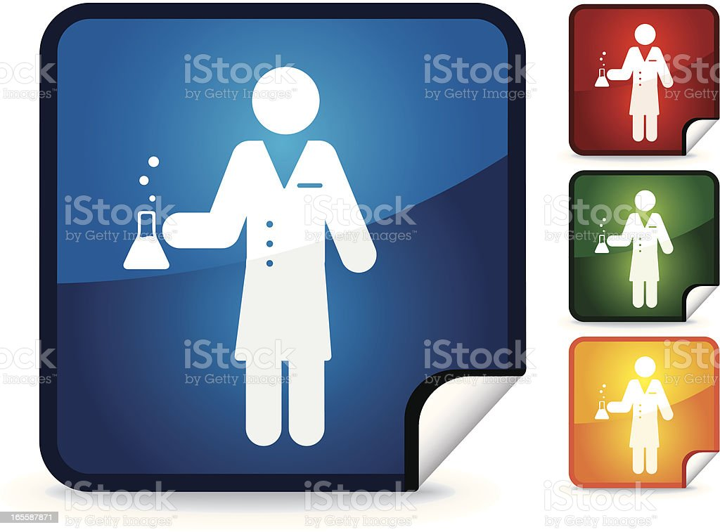 Chemist | Sticker Collection vector art illustration