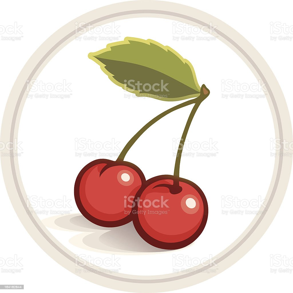 Cherries royalty-free stock vector art