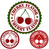 Cherry flavor set of rubber stamps