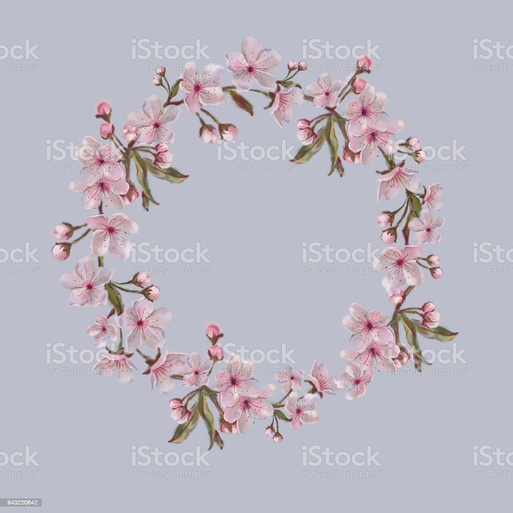 royalty free nut orchard clip art vector images illustrations rh istockphoto com Cherry Blossom Wall Art Mulan Cherry Blossom Clip Art