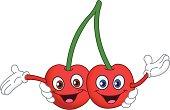 Cartoon cherry twins